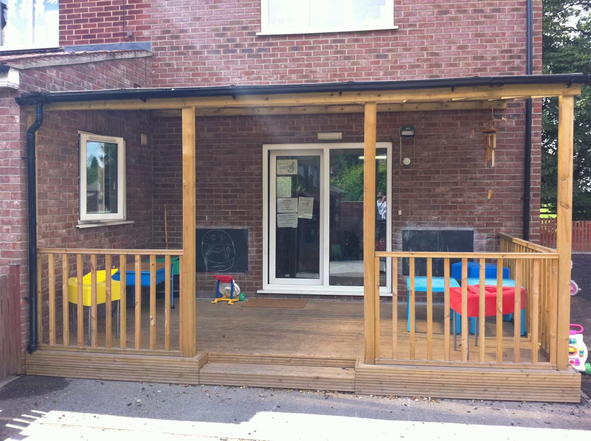 Lean to Timber Canopy - Streetscape Products & Services