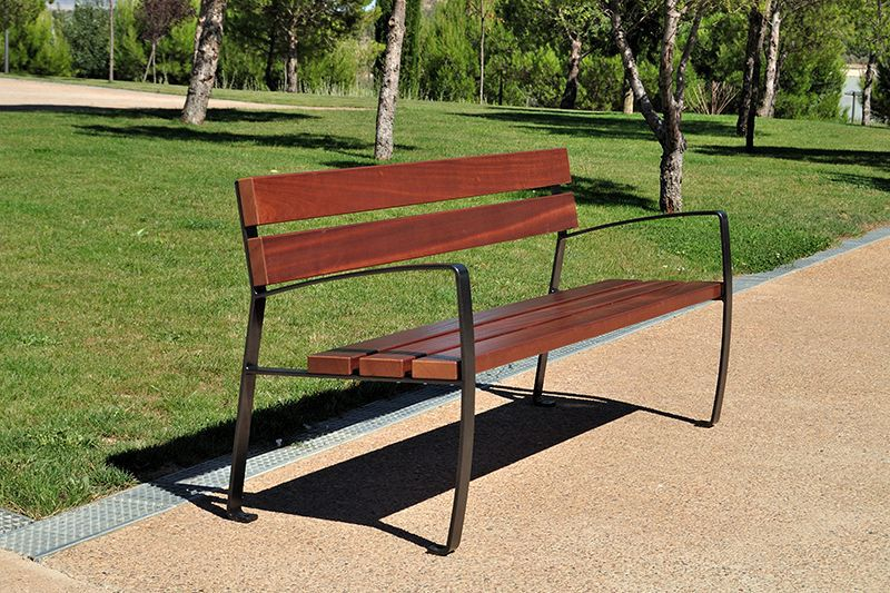 Park Bench W Back Streetscape Products Services