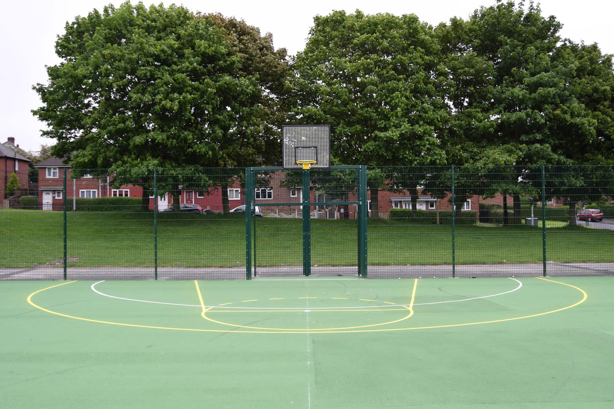 Muga Triple Court Painted Tarmac Streetscape